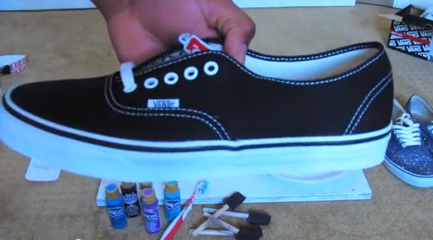 Chaussures Vos Personnaliser En Vans GalaxyAbcskate YWEIbeH9D2