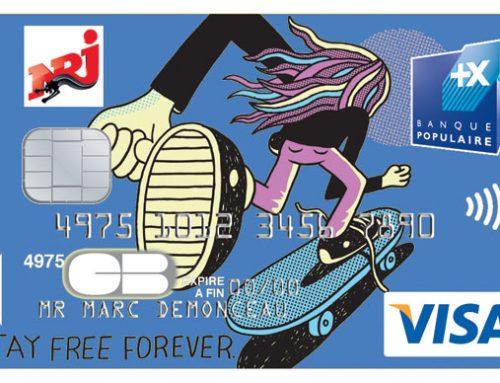 Cartes bancaires skate relookées par Jeremyville