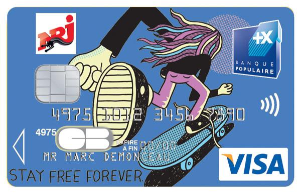 cartes bancaires skate relooke par Jeremyville