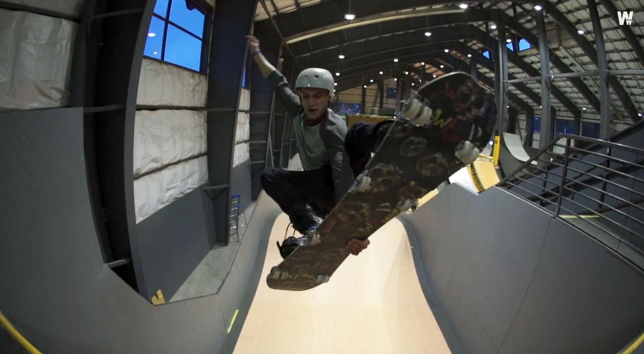 skate et snowboard au skatepark indoor de Woodward