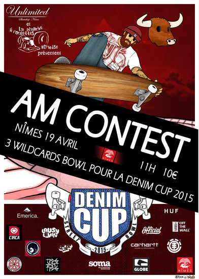 Denim Cup AM contest skate skatepark de Nimes