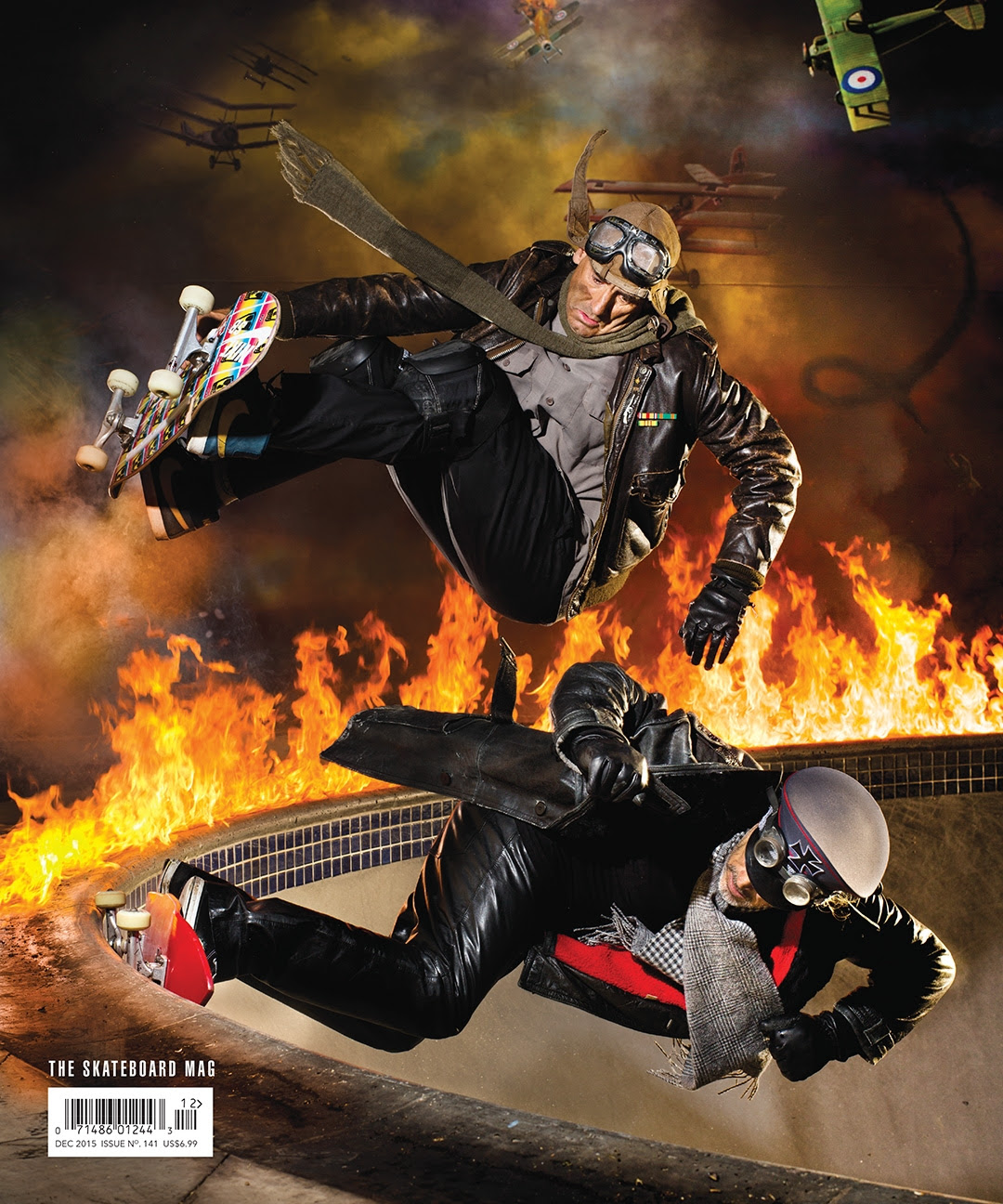 Lance Mountain Steve Olson : DOGFIGHT BEHIND THE COVER : the skateboard mag 141