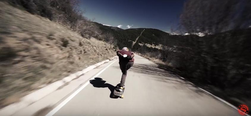 descente Longboard skate Pyrenees france