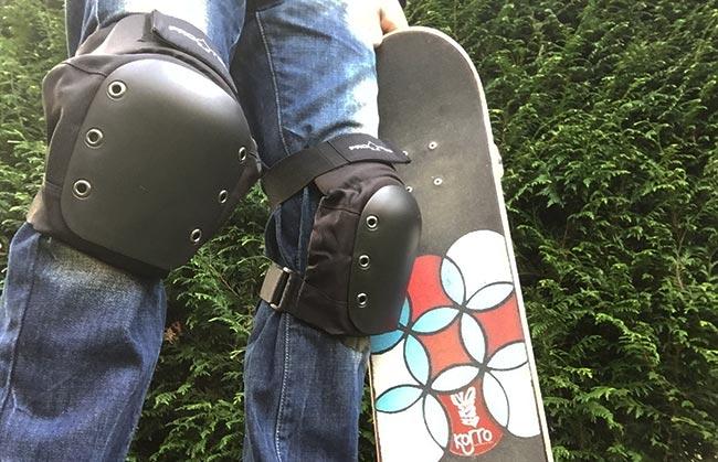 protections de skate genouillère et coudière PRO -TEC