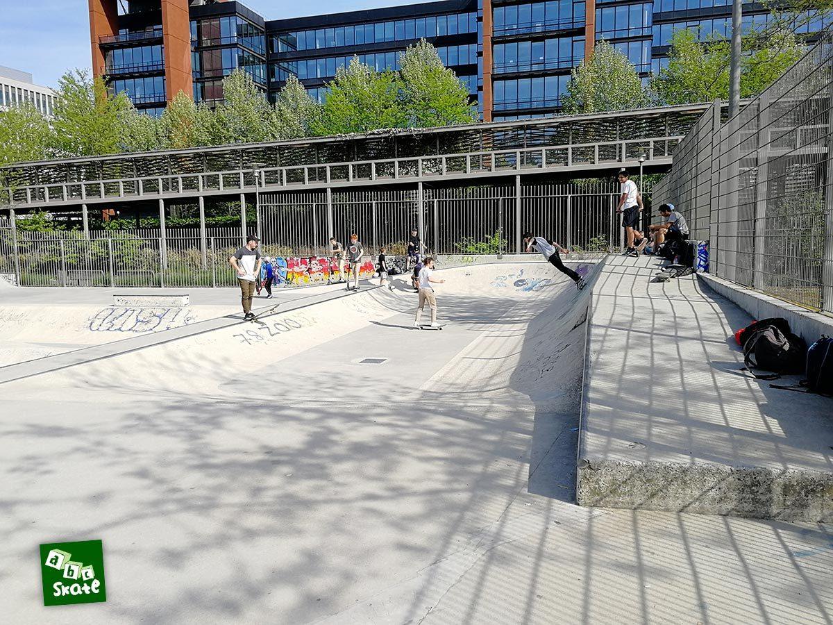 Skatepark Rueil-Malmaison : mini rampe
