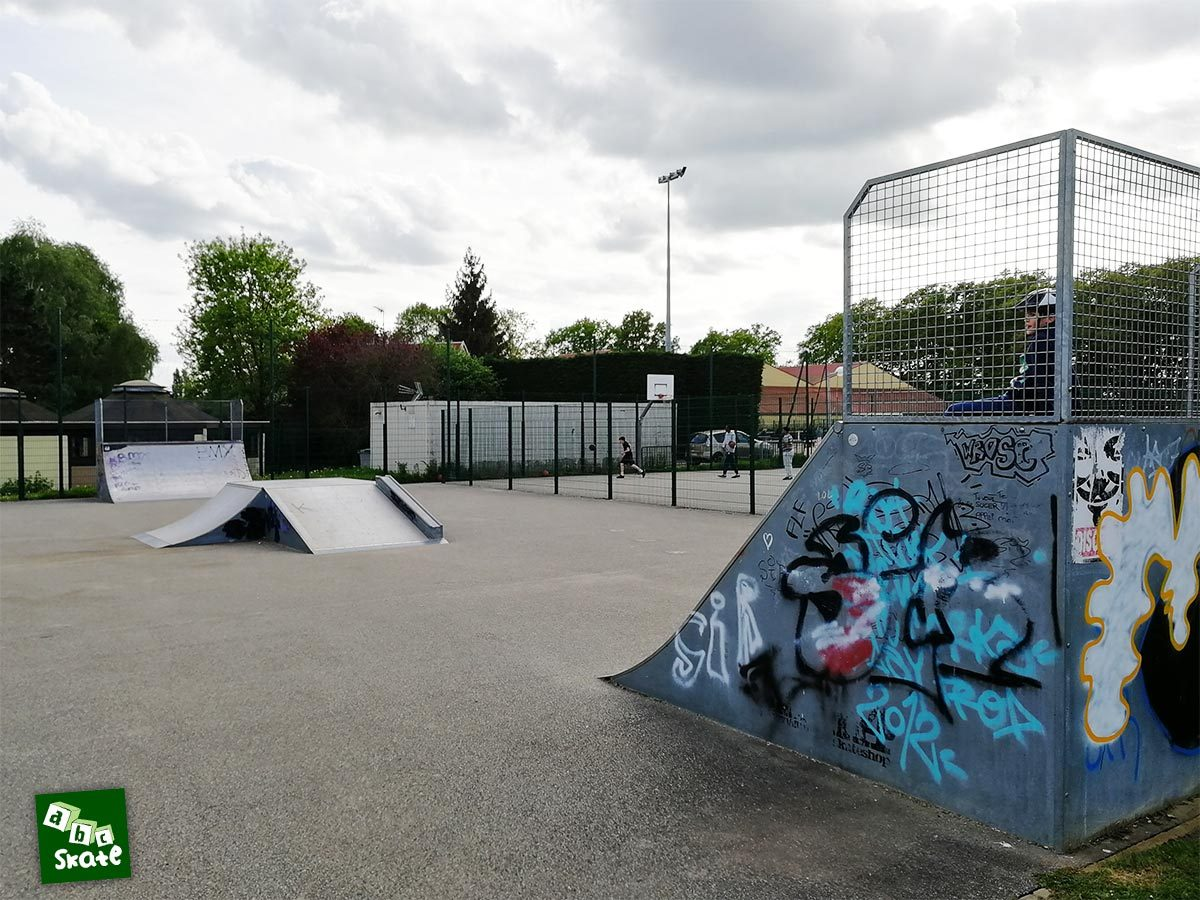 skatepark Bois d'Arcy : plan incliné