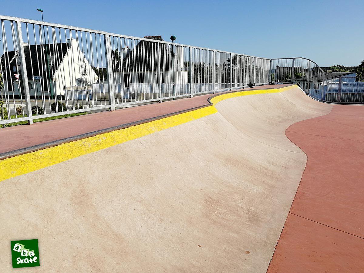 Skatepark de Crozon : Quarter sur toute la largeur