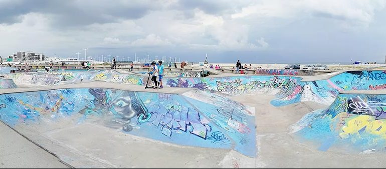 Skatepark du Havre : vue d'ensemble