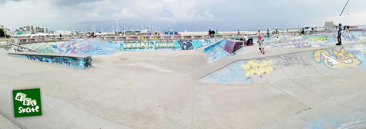 Skatepark du Havre : aire de street et mini rampe