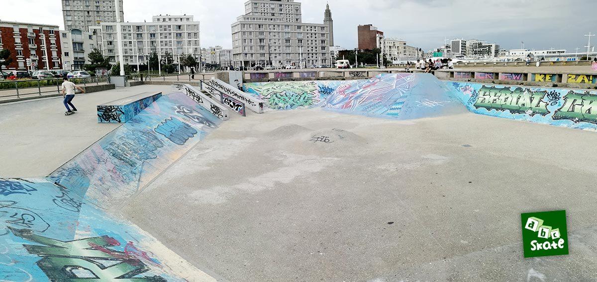 Skatepark du Havre : aire de street