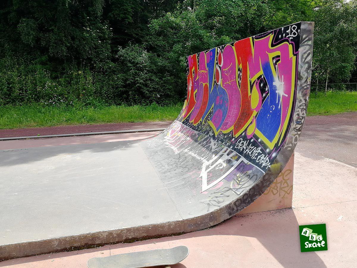 Skatepark la Courrouze : quarter vertical
