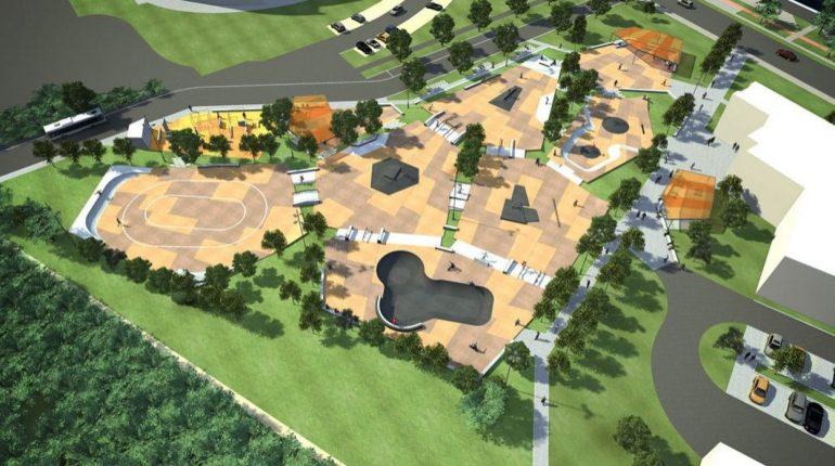 Plan du skatepark de Gand