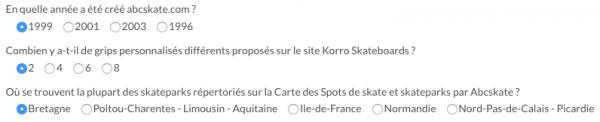 Questionnaire pour le concours Korro Skateboards x Abcskate